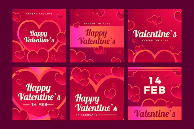 Saint-valentin vente instagram post collection