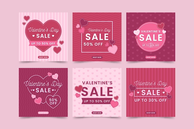 Saint valentin vente instagram post collection