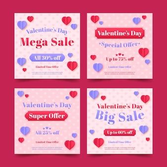 Saint valentin vente instagram post collection