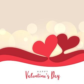 Saint valentin voeux en style papercut