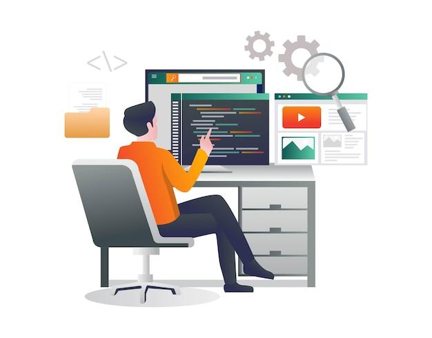 Saisie d'un langage de programmation pour créer une application web
