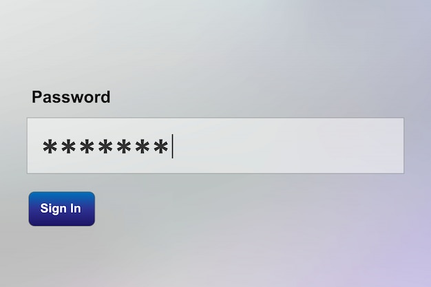 Saisie sécurisée du mot de passe, séquence de connexion