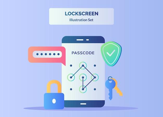 Saisir le code d'accès sur l'écran du smartphone