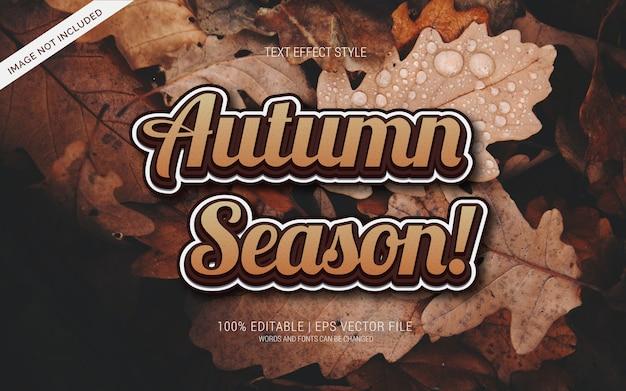 Saison de l'automne! effets de texte