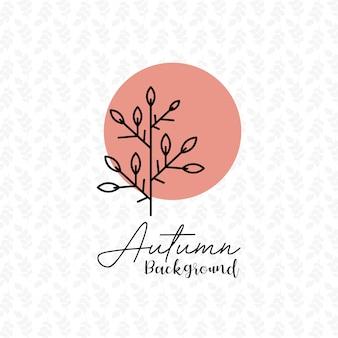 Saison d'automne avec le vecteur de conception de fond motif