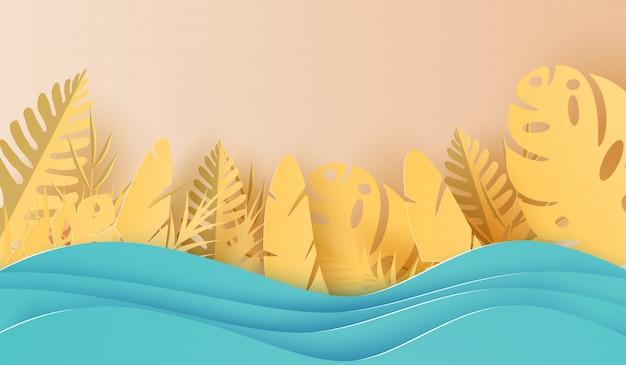 Saison estivale décoration de palmiers tropicaux