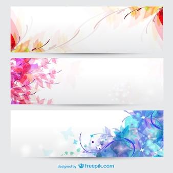 Saisons florales bannières de fond