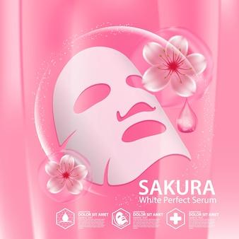 Sakura collagen solution cosmétique de soins de la peau naturelle