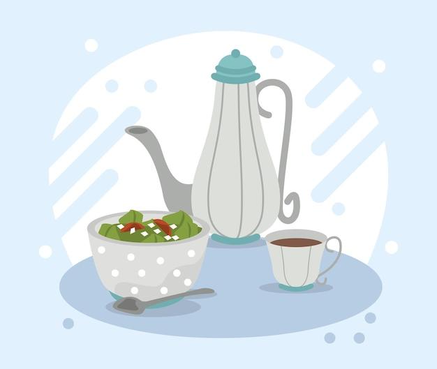 Salade et café