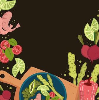 Salade fraîche et crevettes