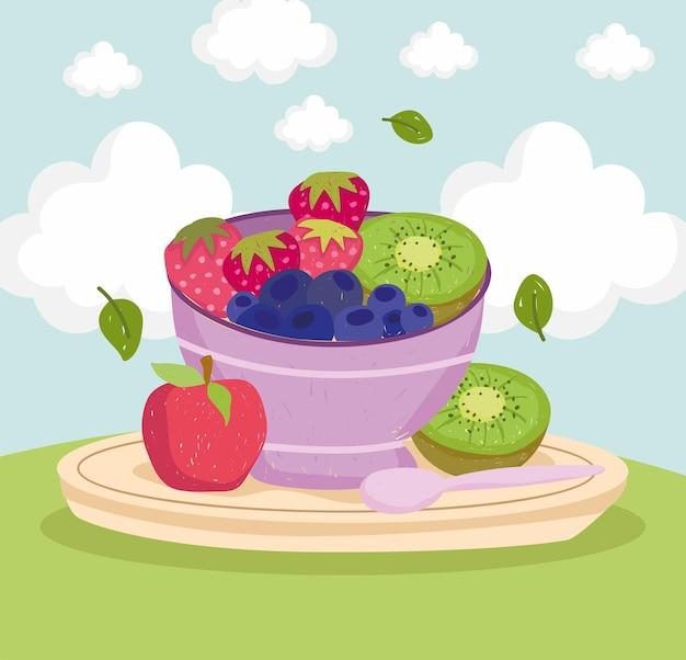 Salade de fruits sains