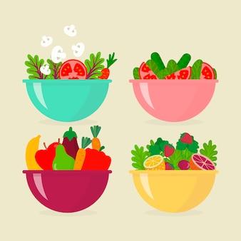 Saladiers aux fruits