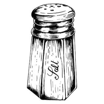 Salière dessiné à la main