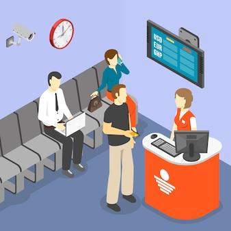 Salle d'attente isométrique