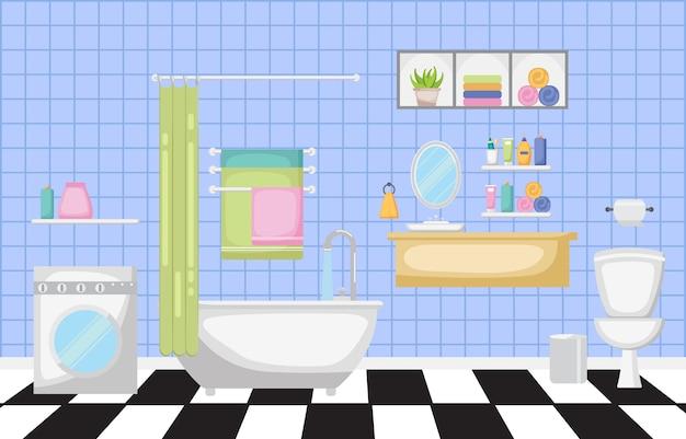 Salle de bain intérieur moderne meubles design plat
