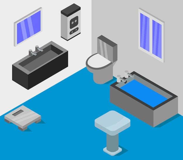 Salle de bain isométrique