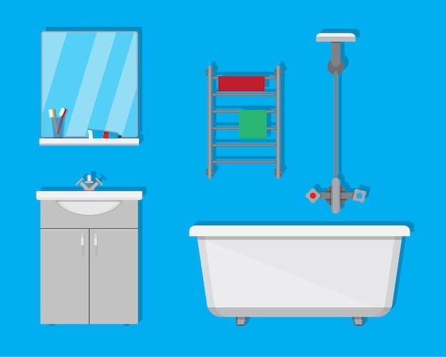 Salle de bain avec meubles.