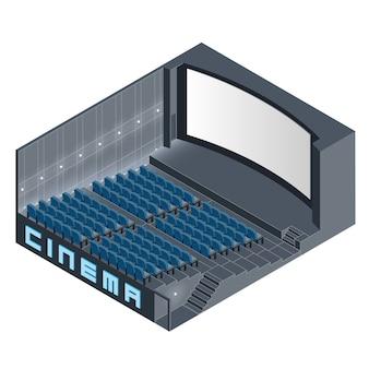 Salle de cinéma isométrique