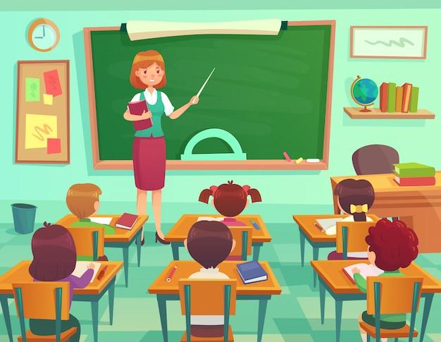Salle de classe avec des enfants