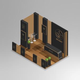 Salle d'exposition de luxe isométrique 3d réaliste