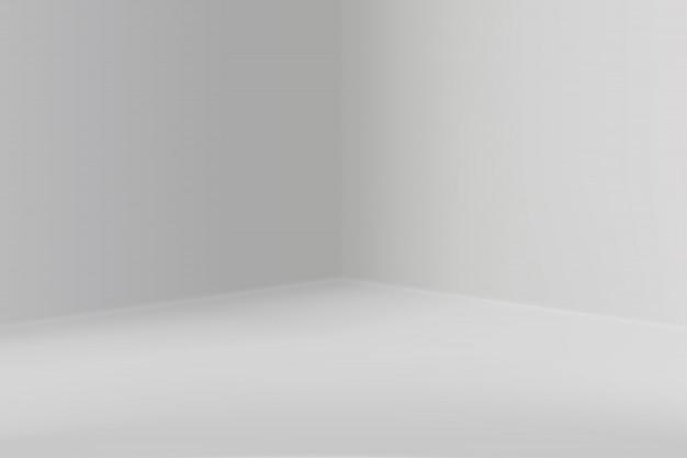 Salle d'exposition vide avec coin carré