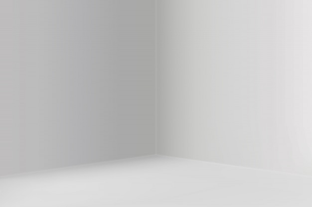 Salle d'exposition vide avec fond de coin carré