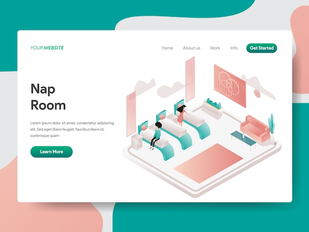 Salle de sieste pour la page web