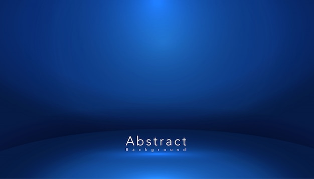 Salle de studio de forme abstraite bleue