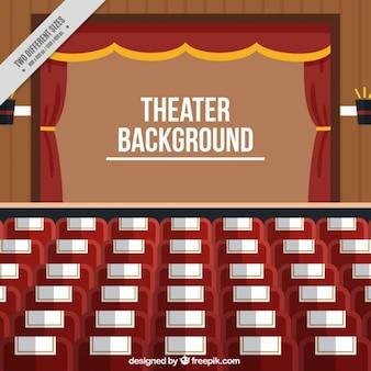 Salle de théâtre fond