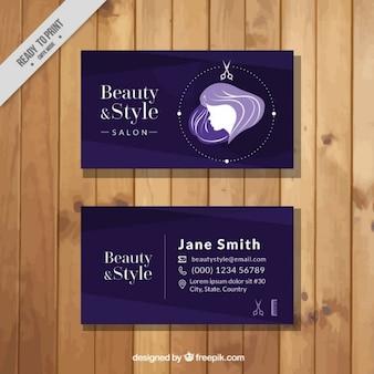 Salon de beauté de carte violette