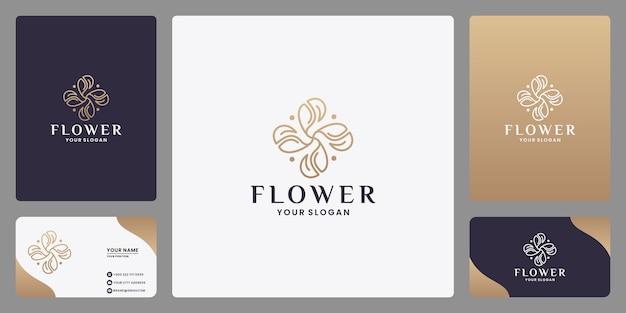 Salon de beauté féminin et spa logo design monogramme style d'art en ligne