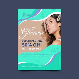 Salon de beauté flyer v discount