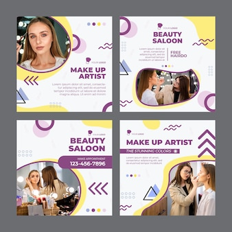Salon de beauté instagram posts