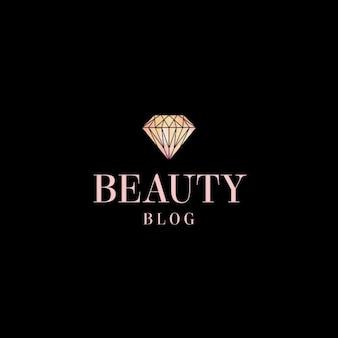Salon de beauté logo modèle