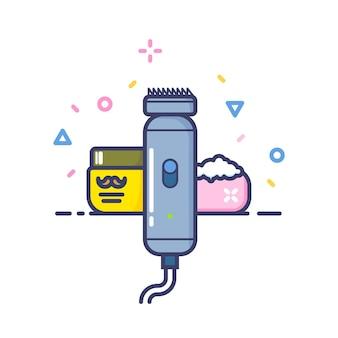Salon de coiffure. art vectoriel doublé élégant. haute qualité. icône. logotype.