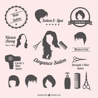 Salon de coiffure graphiques