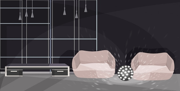 Salon avec fauteuils et lampe croquis intérieur de bureau moderne