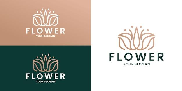 Salon et spa féminins de conception de logo de fleur de lotus