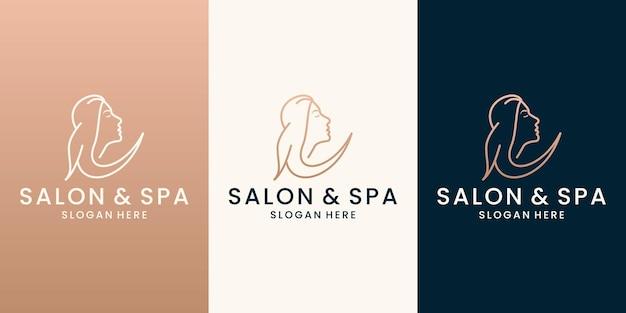 Salon de vecteur de conception de logo de coiffure