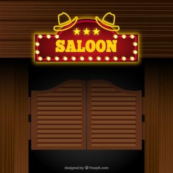 Saloon fond d'entrée