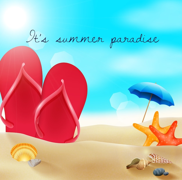 Salut du paradis d'été