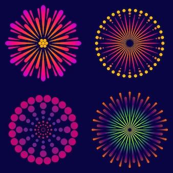 Salut explosif dans le ciel de fête.