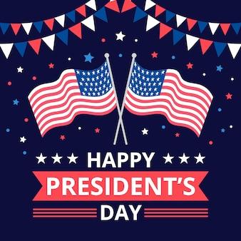 Salutation colorée du jour du président