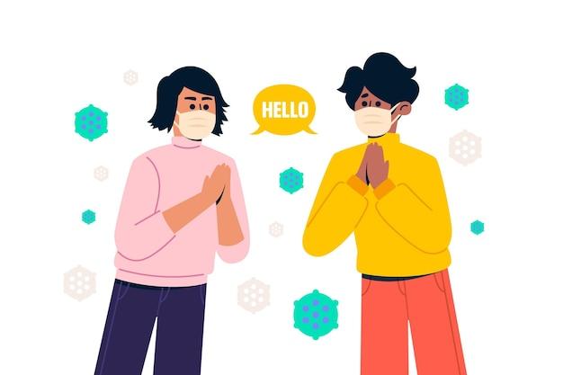 Salutation dans la nouvelle normalité