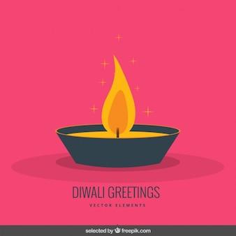Salutation diwali dans un style design plat