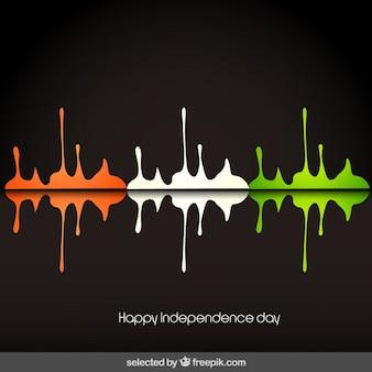 Salutation jour carte independece de l'inde avec la peinture
