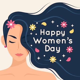 Salutation de la journée de la femme heureuse