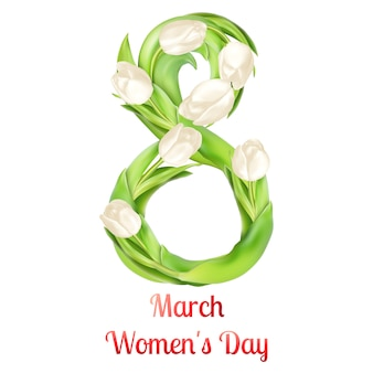 Salutation de la journée des femmes du huit mars