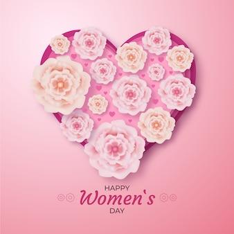 Salutation réaliste de la journée de la femme