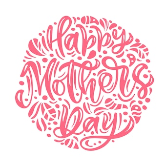 Salutation ronde floral happy mother's day
